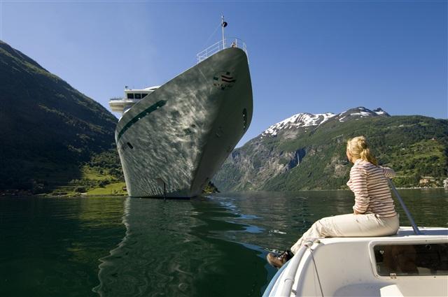 Водный пейзаж в Норвегии