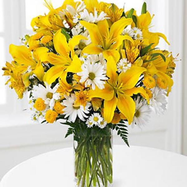 лилии и хризантемы